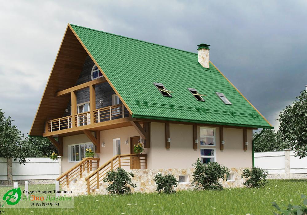 Проект дома в стиле шале 300м2