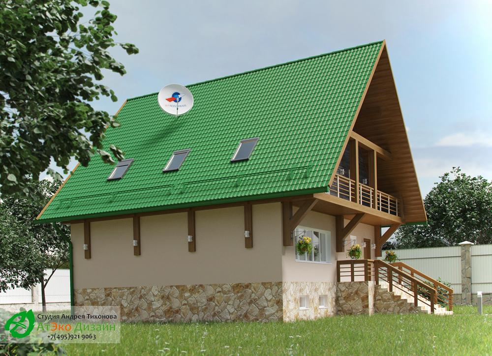 Загородный дом в стиле шале 300м2