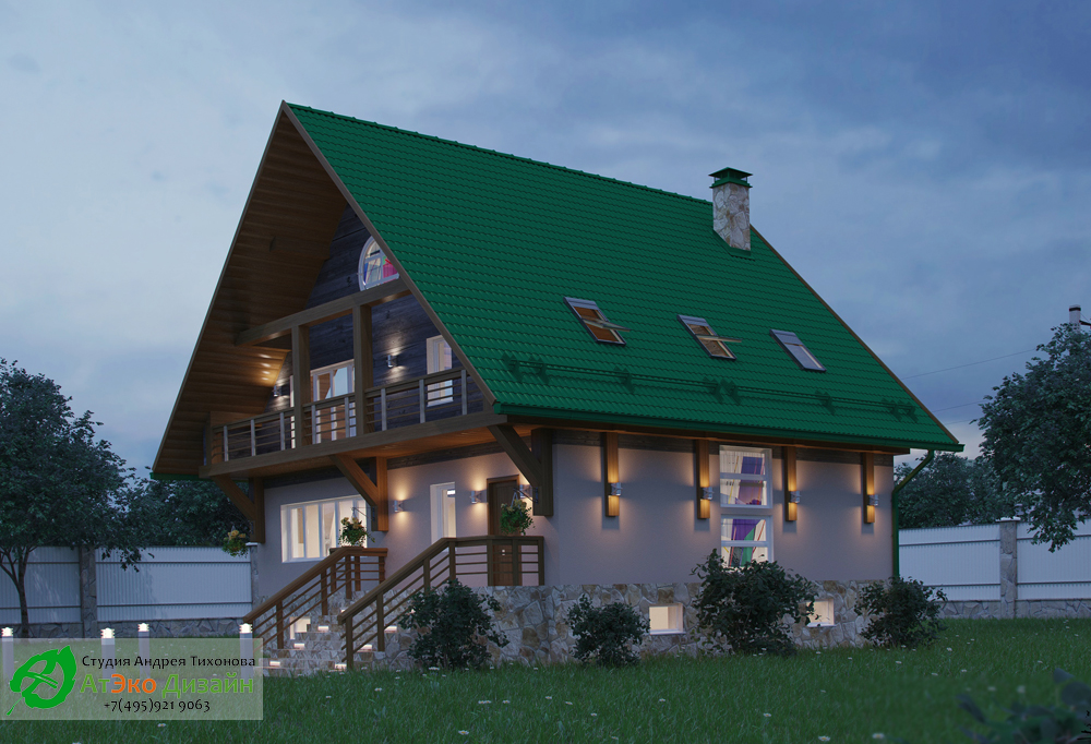 Проект загородного дома в стиле шале