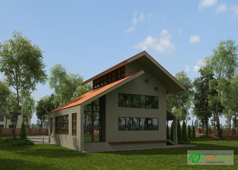 Дизайн фасада дома 220м2 в стиле модерн