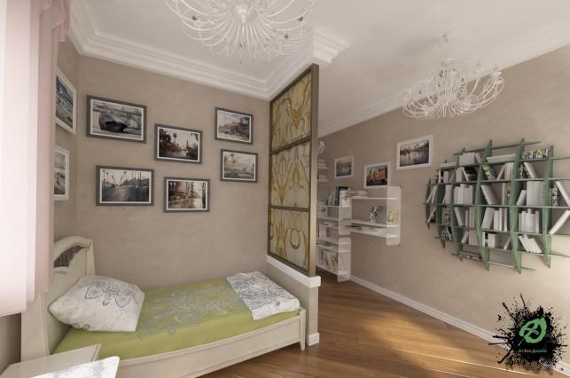 Дизайн комнаты отдыха в классическом стиле