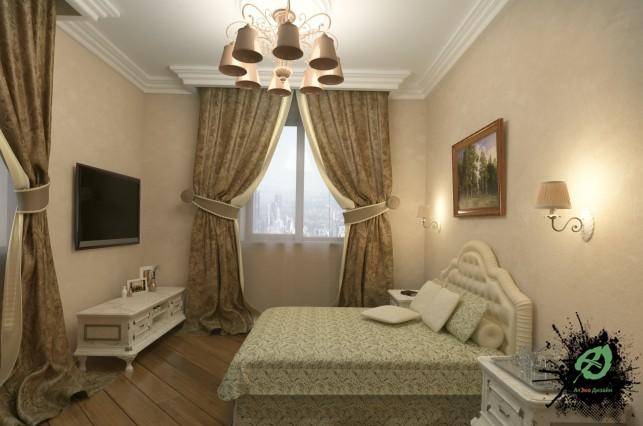Фото дизайна просторной спальни в классическом стиле