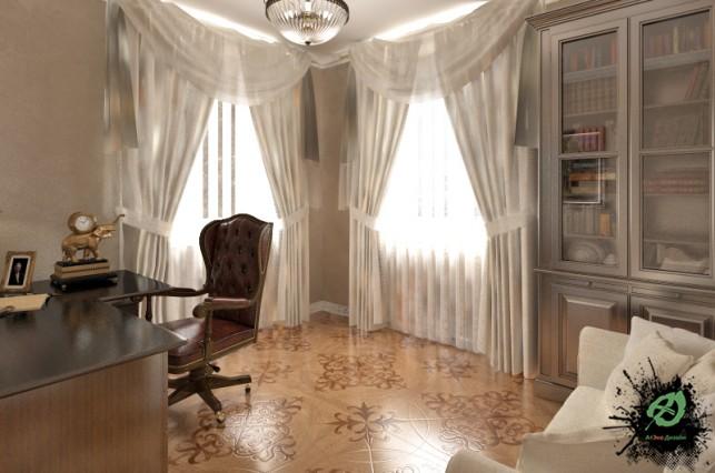 Фото дизайна рабочего кабинета в классическом стиле