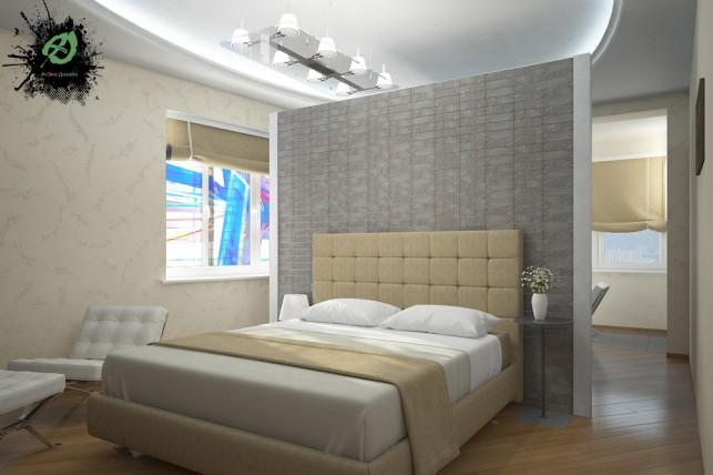Дизайн спальни в 3-х комнатной квартире на Таганке