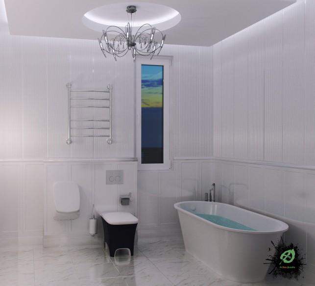 Дизайн санузла 3-х комнатной квартиры на Таганке расположение ванной