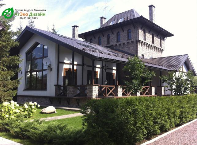 готовый фасад архитектуры гостевого комплекса