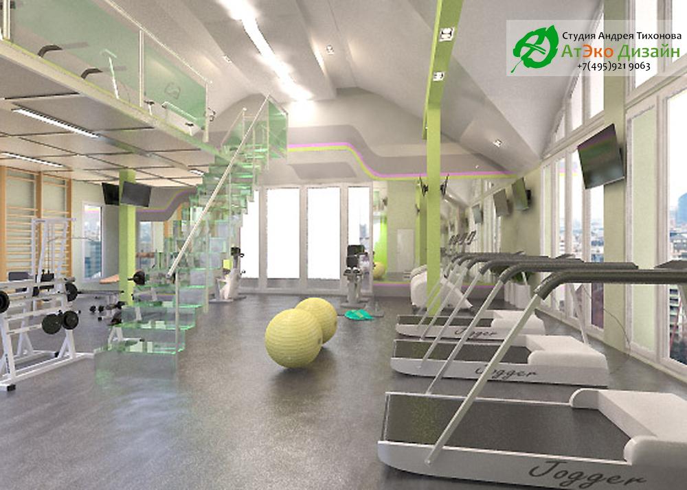 Дизайн спорт-бара под ключ - разработка дизайн проекта Проект дизайна спортивного клуба