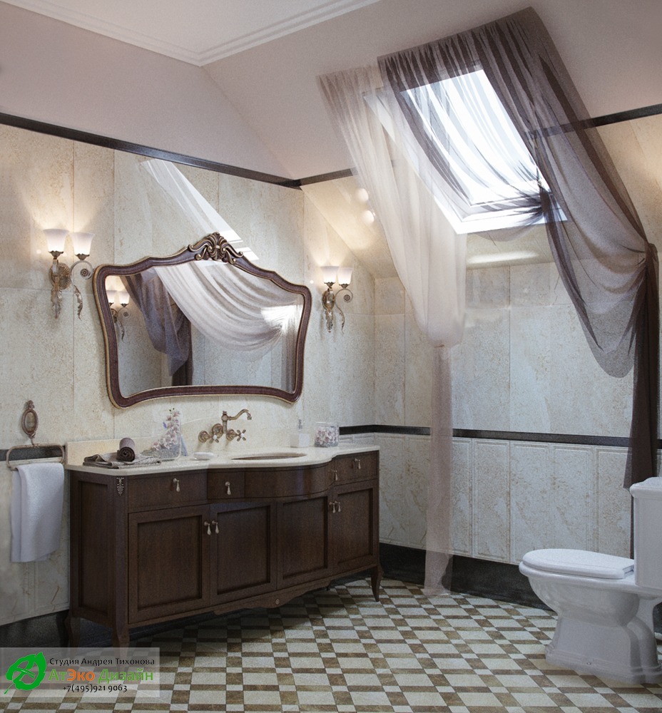Bathroom on the second floor