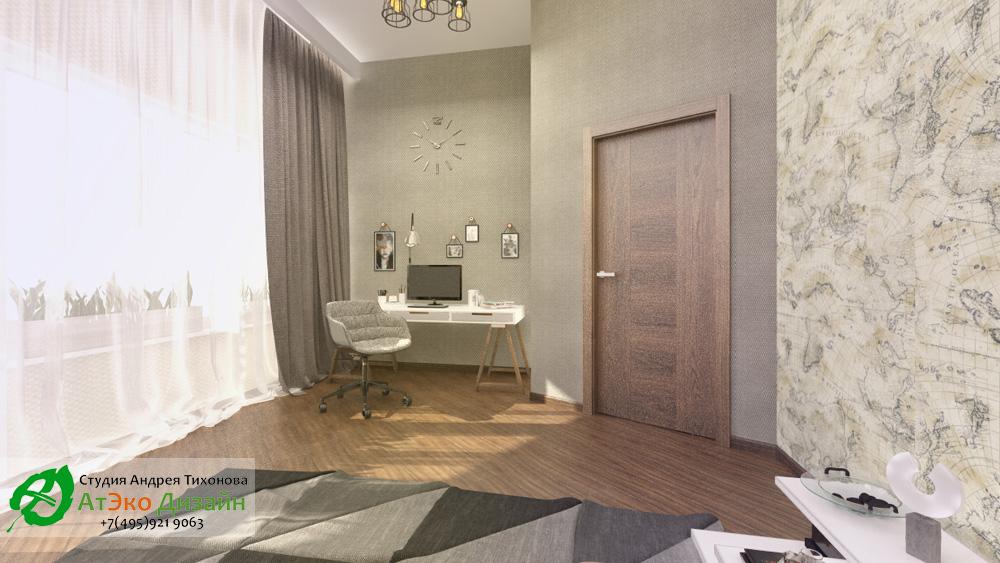 Дизайн гостевой комнаты дома 260м2 в современном стиле