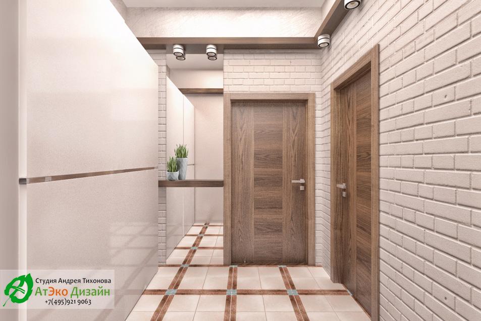 Дизайн прихожей дома 260м2 в современном стиле