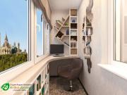 rabochee mecto kabinet na balkone