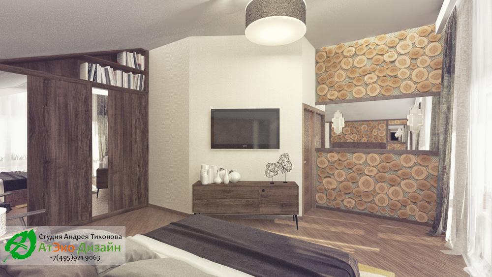 Дизайн спальни дома 260м2 в современном стиле
