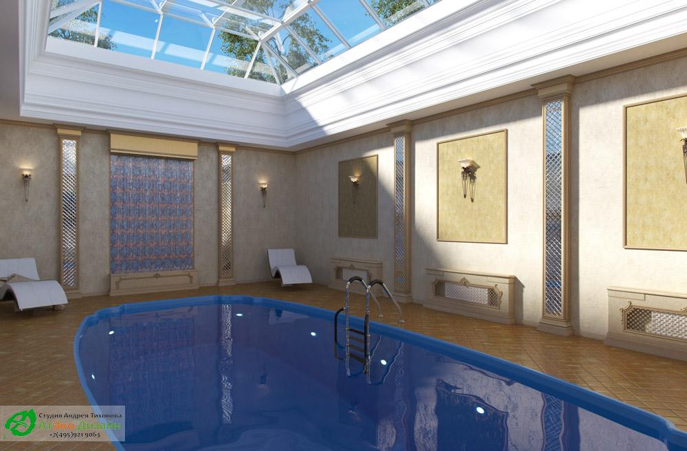 Фото дизайна бассейна в частном доме