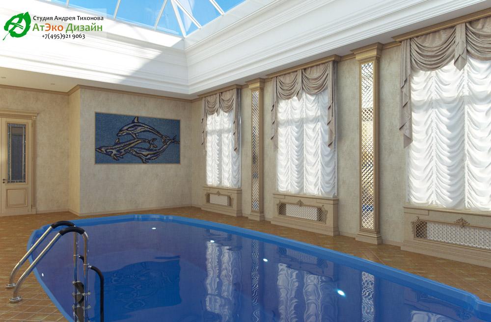 Дизайн бассейна внутреннее помещение