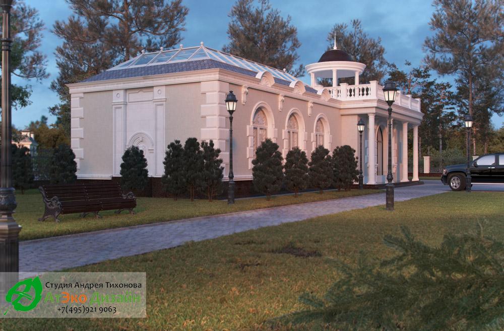 Дизайн архитектуры здания бассейна в частном доме