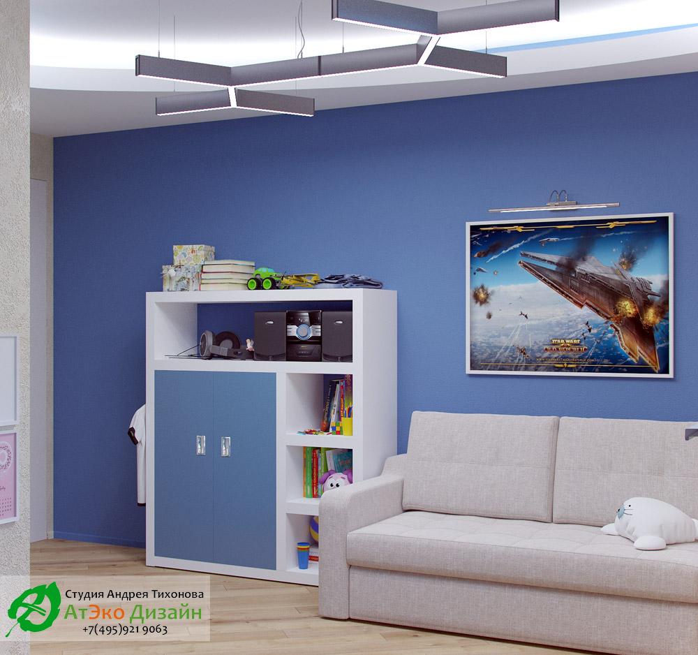 Фото дизайна детской комнаты в стиле минимализм