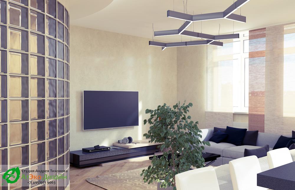 Фото гостиная в в квартире в стиле Минимализм