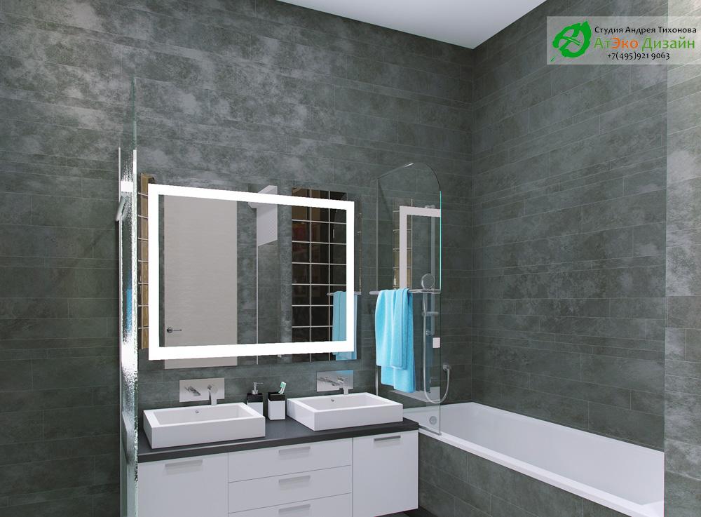 Фото дизайна ванной комнаты в квартире в стиле Минимализм