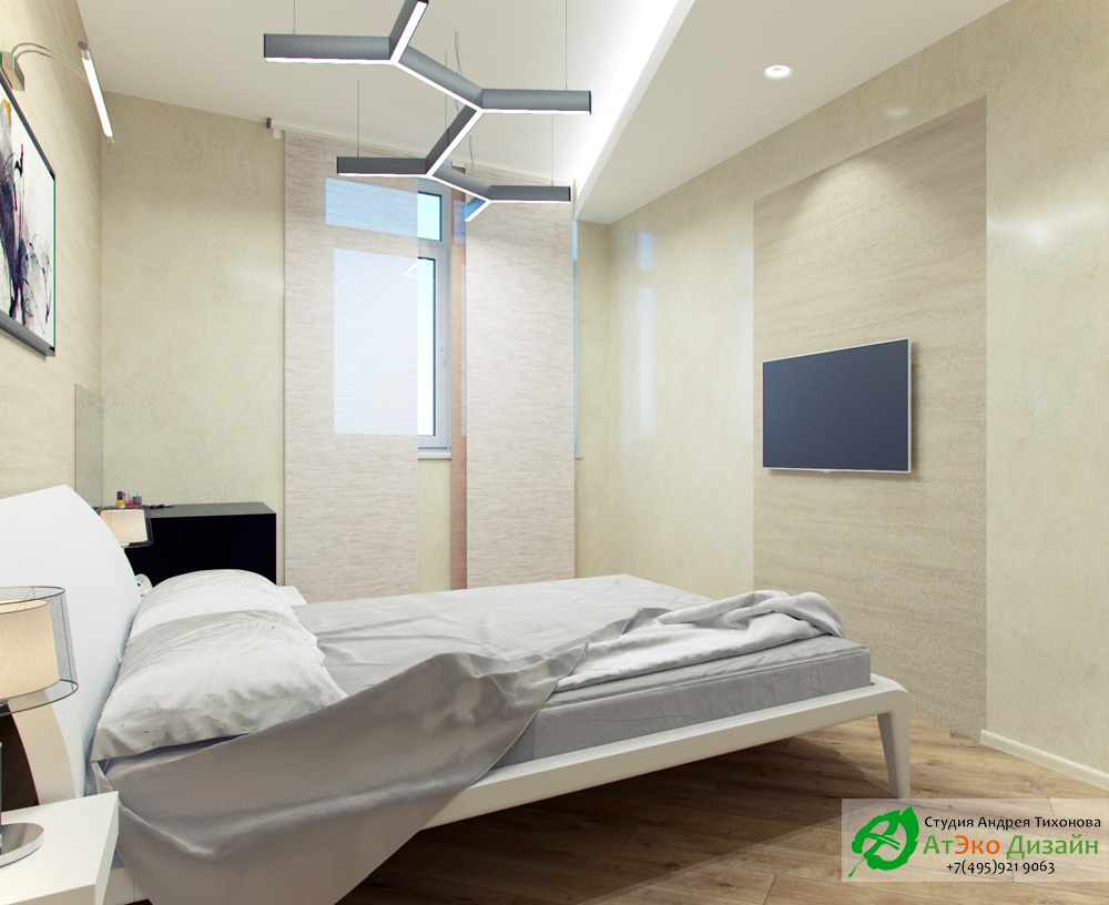 Фото дизайн квартиры и спальни в стиле Минимализм