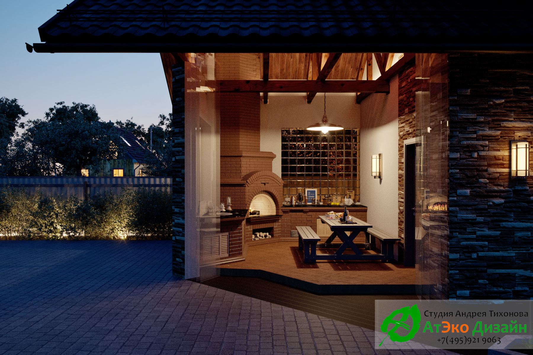 Комната для барбекю проект архитектуры гостевого дома