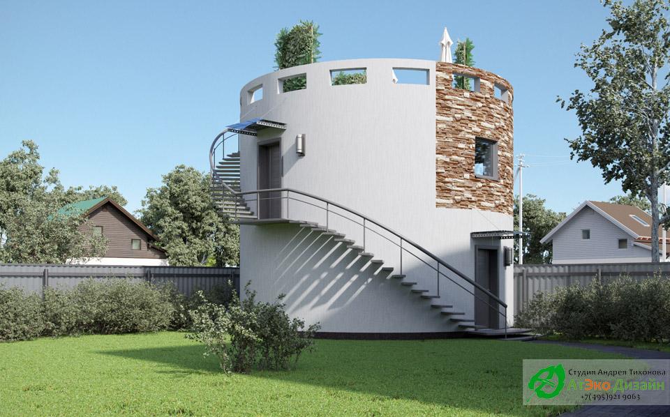 Архитектура двухэтажного гаража