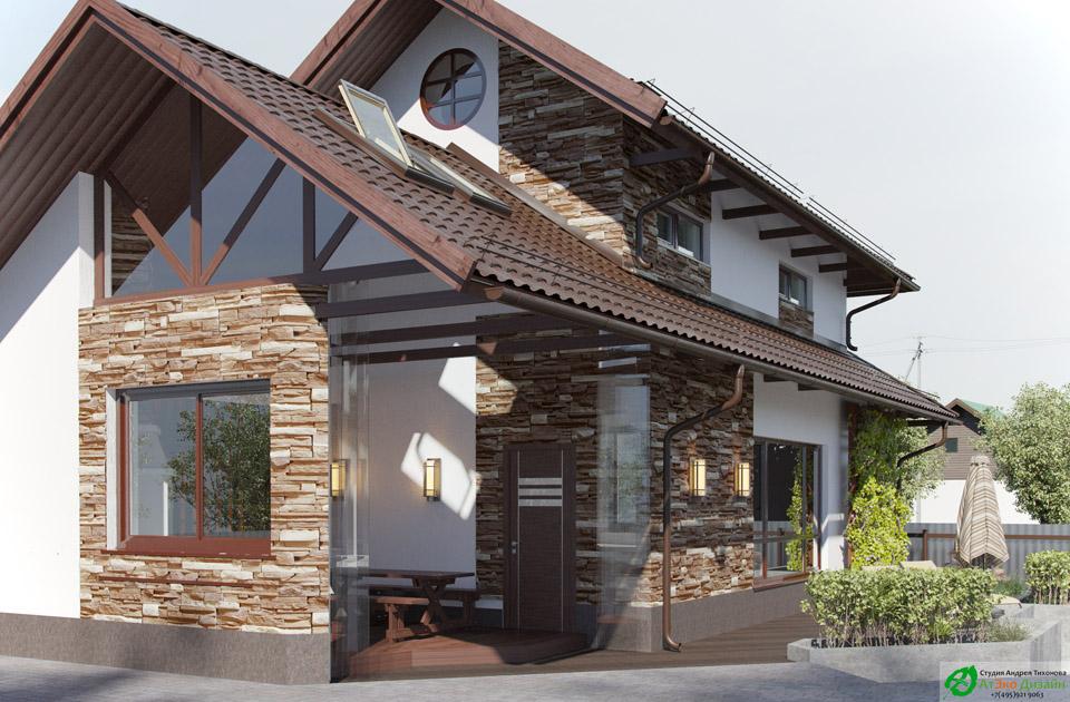 фасад гостевого дома дизайн архитектуры