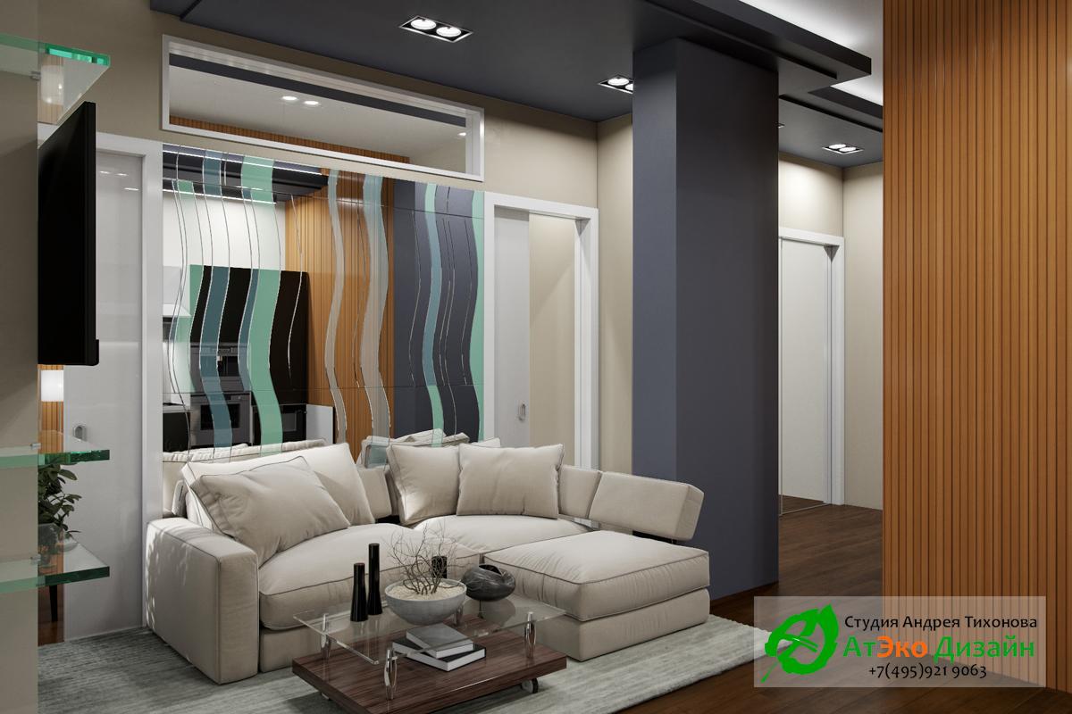 Фото дизайна современной кухни в квартире Сколково