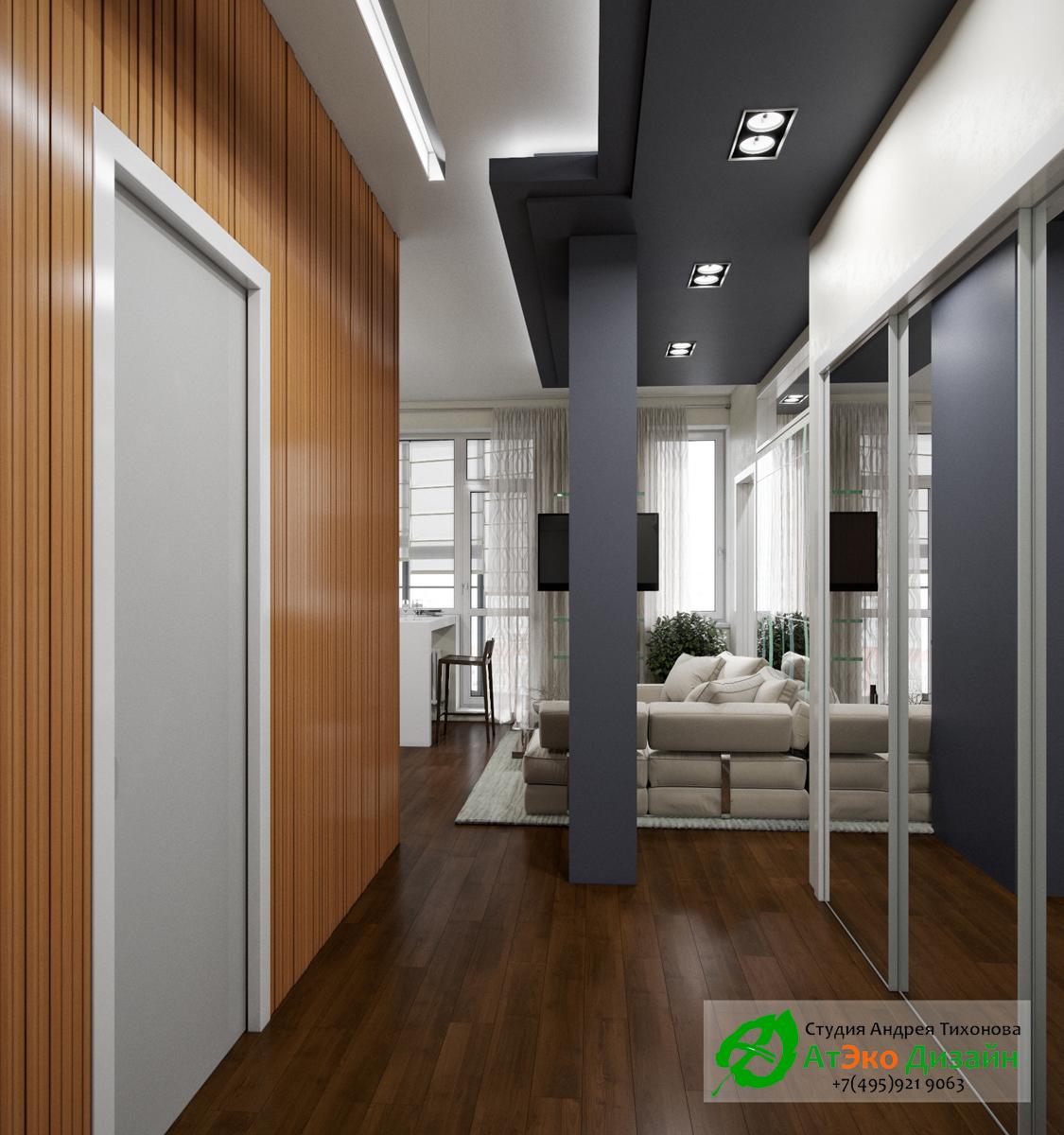 Фото дизайна прохожей квартиры в современном стиле в Сколково