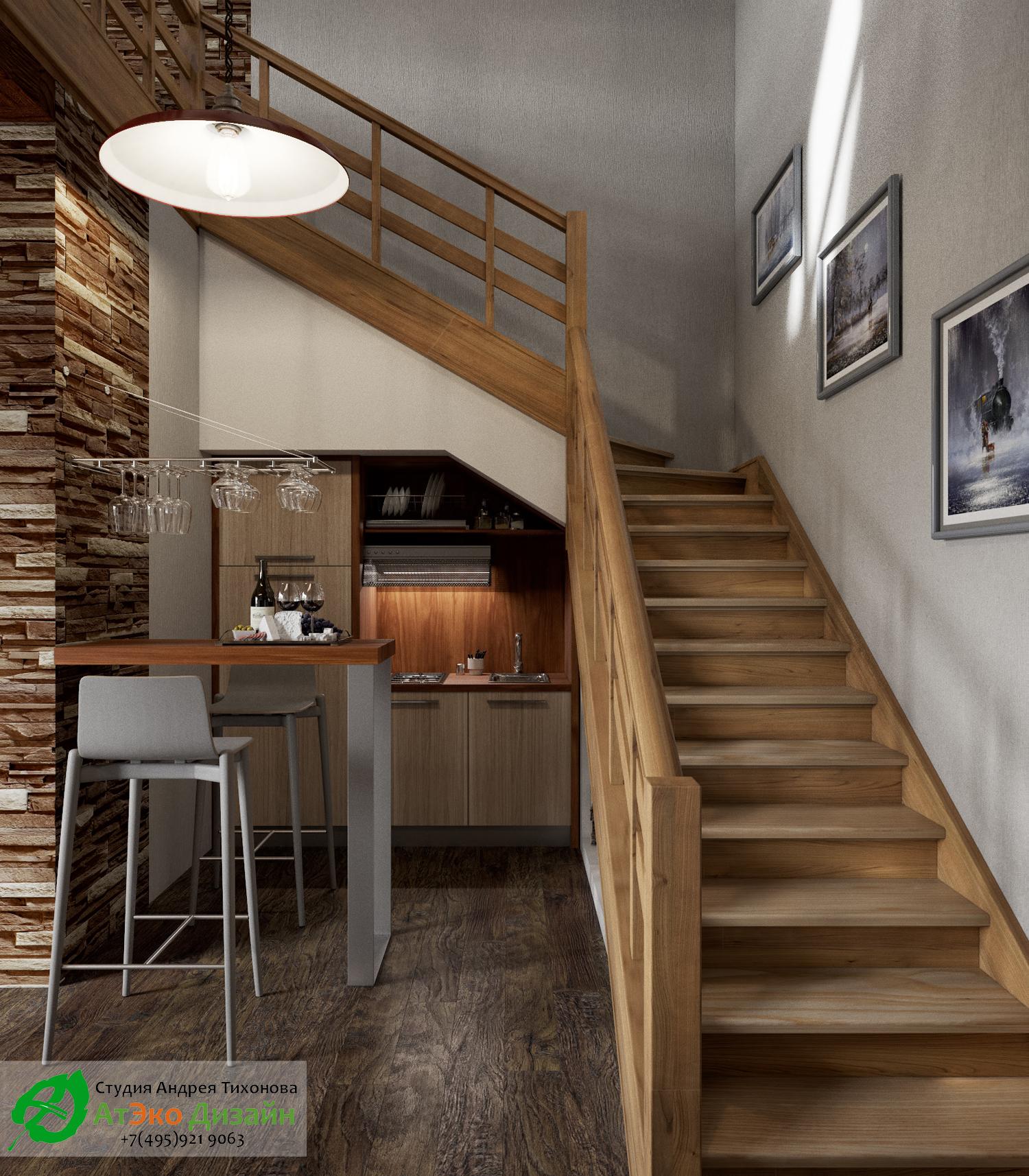 Фото дизайна лестницы на второй этаж гостевого дома