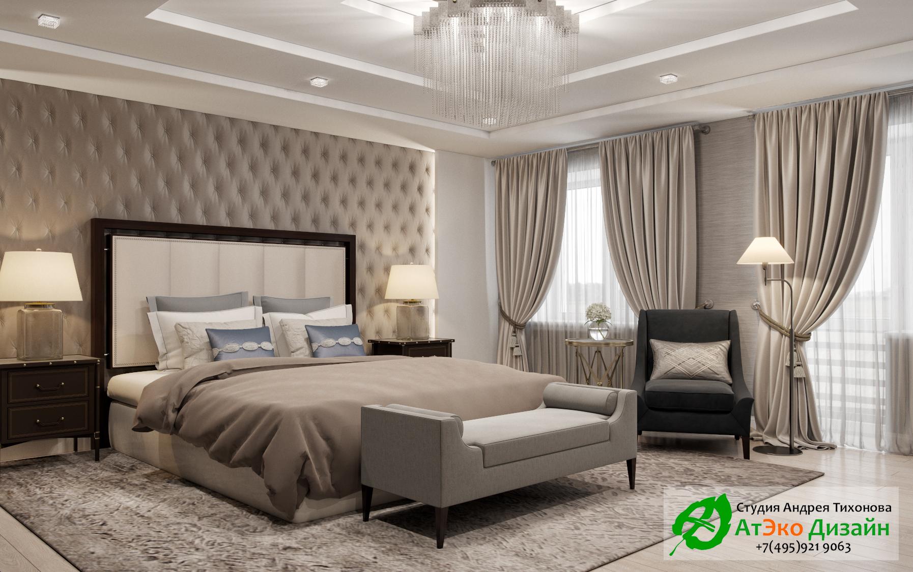 Фото дизайна спальни родителей в апартаментах