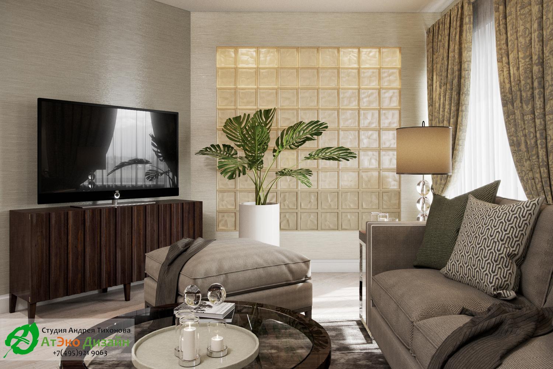 Фото дизайна кухни-гостиной в апартаментах для семьи с двумя детьми вид в гостиной