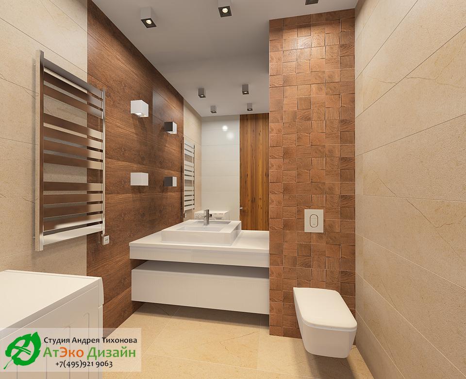 Дизайн второго санузла с туалетом и раковиной в светлых тонах