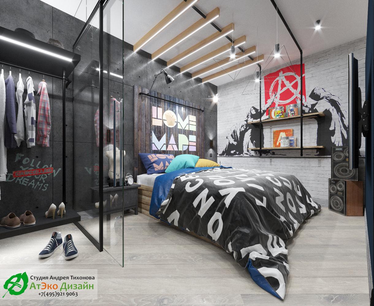 Фото дизайн проекта спальни Эклектика