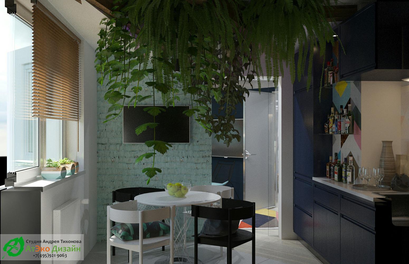Вид кухни в стиле Эклектика дизайн проект