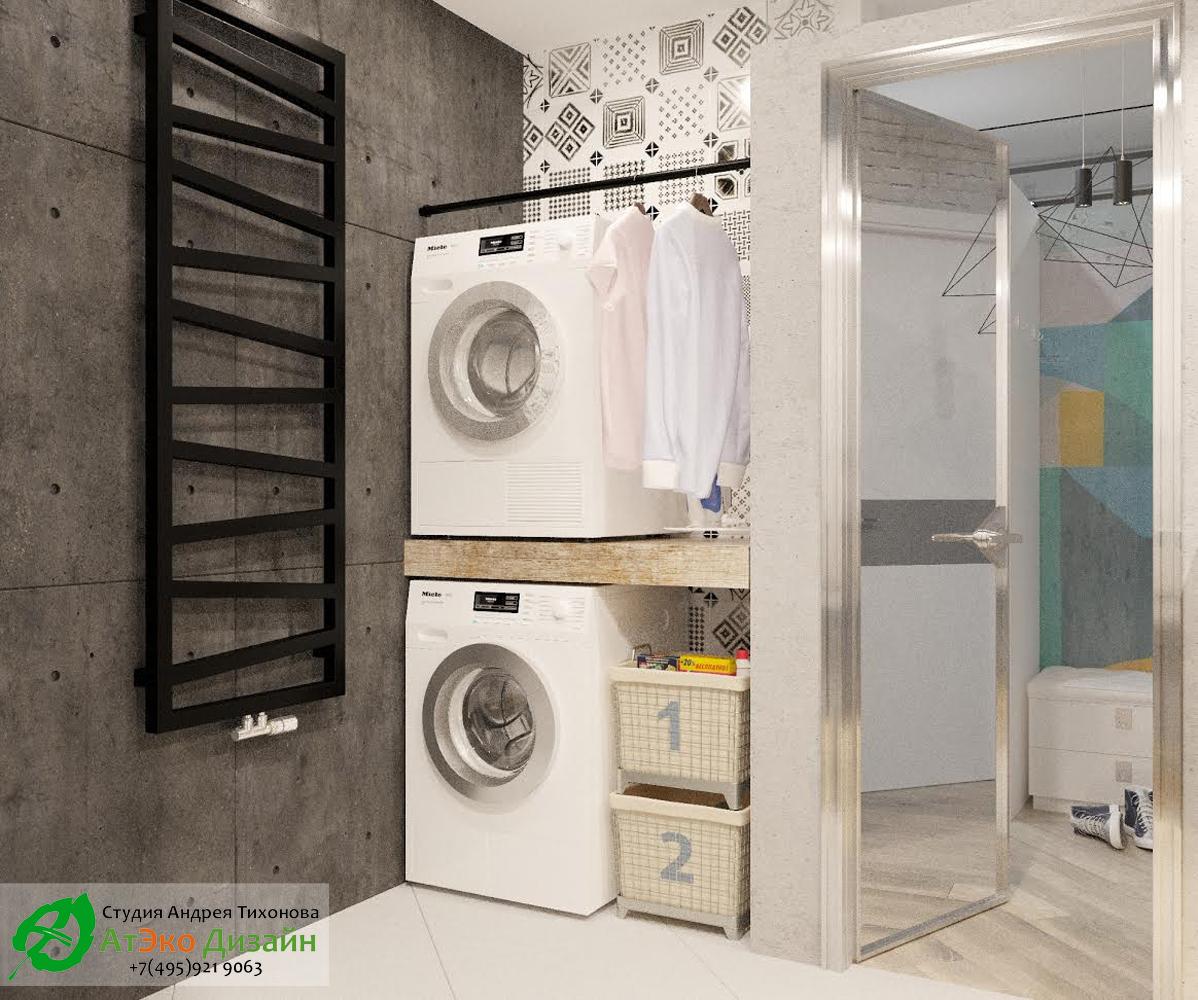 Фото дизайна расположение стиральной машины в квартире со стилем Эклектика