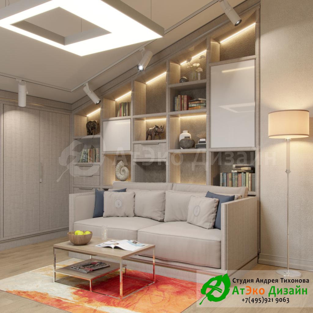 Дизайн интерьера детской комнаты в загородном доме в стиле современного классического модернизма