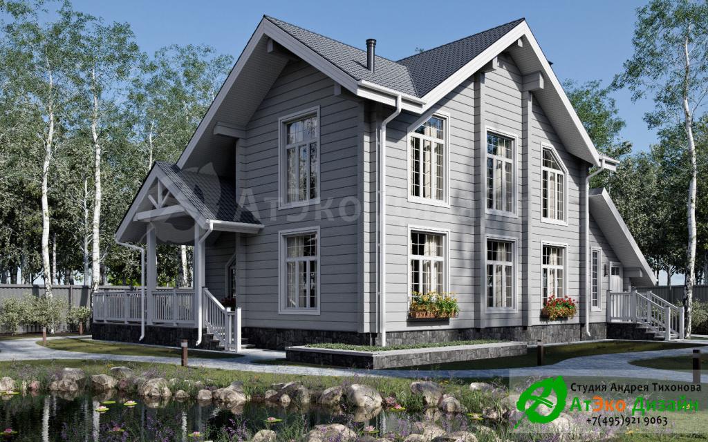 Дизайн-проект архитектуры дома с гаражом в Наро-Фоминске