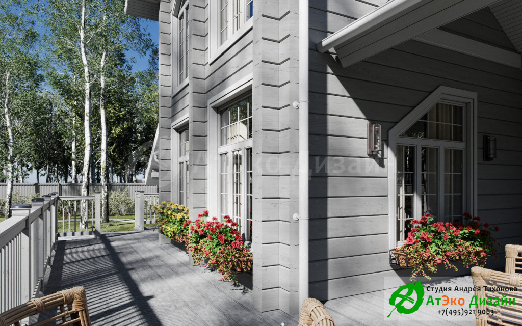 Дизайн-проект веранды дома 250м2
