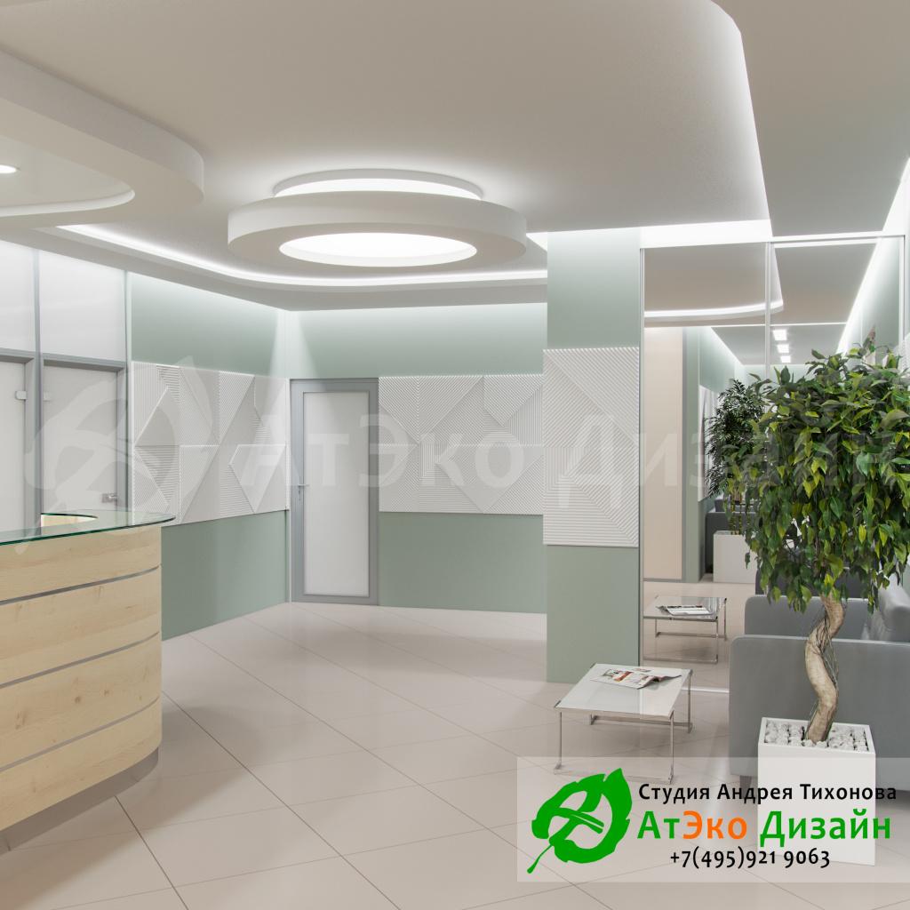 Дизайн-проект интерьера стоматологии Дентас комната ожидания