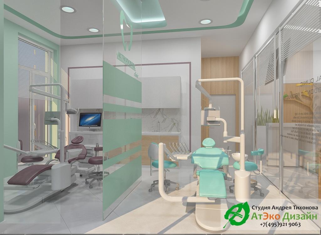 Дизайн-проект интерьера стоматологии Дентас кабинет врача