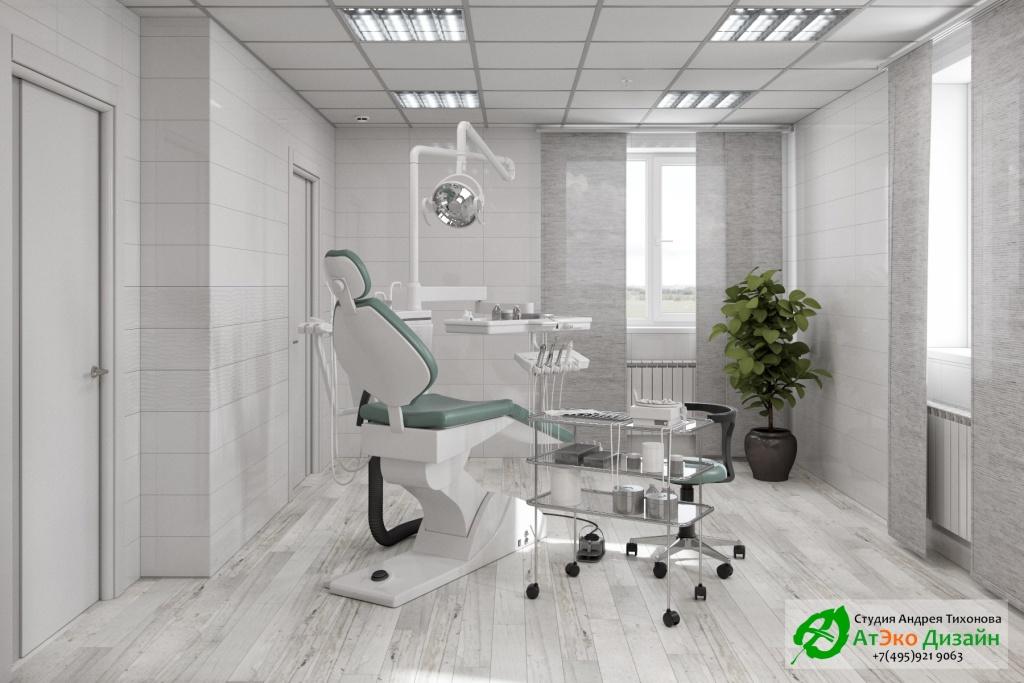 Дизайн-проект интерьера стоматологии Дентас кабинет стоматолога