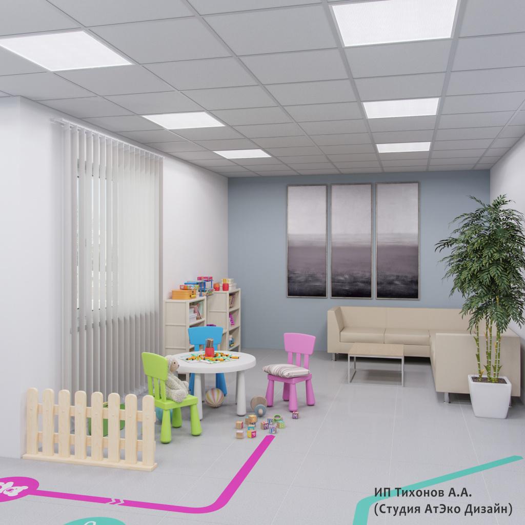 Дизайн-проект единого стиля детских стоматологических поликлиник Москвы детский уголок