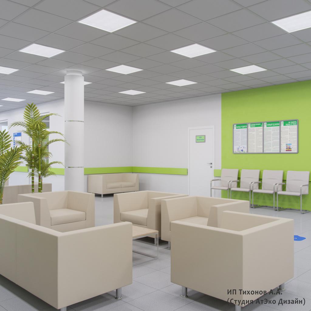 Дизайн-проект единого стиля детских стоматологических поликлиник Москвы холл ожидания