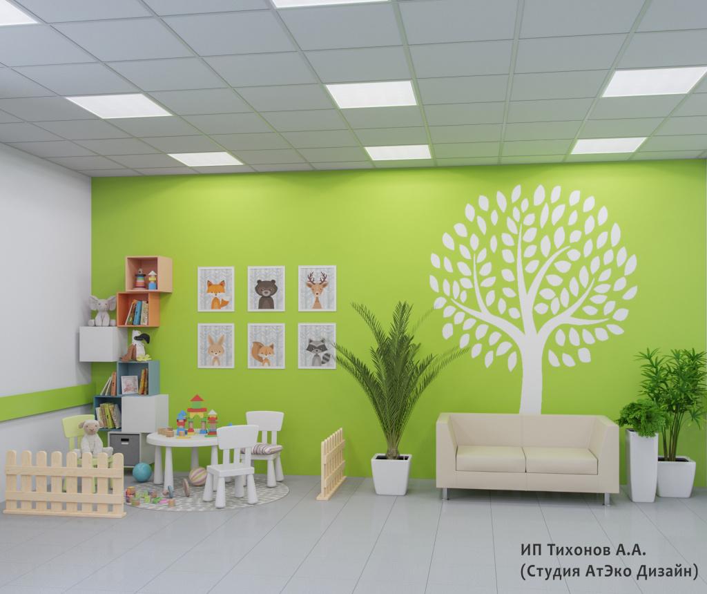 Дизайн-проект единого стиля детских стоматологических поликлиник Москвы детская площадка