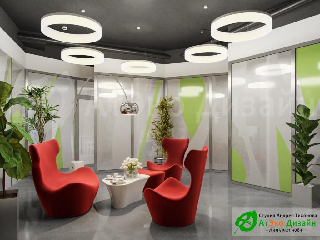 офис в стиле модерн - студия АтЭко Дизайн