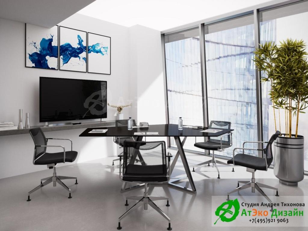 офис в стиле хай-тек - студия АтЭко Дизайн
