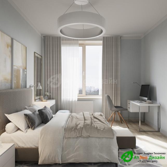 Сколково медовая дизайн Спальни с окном
