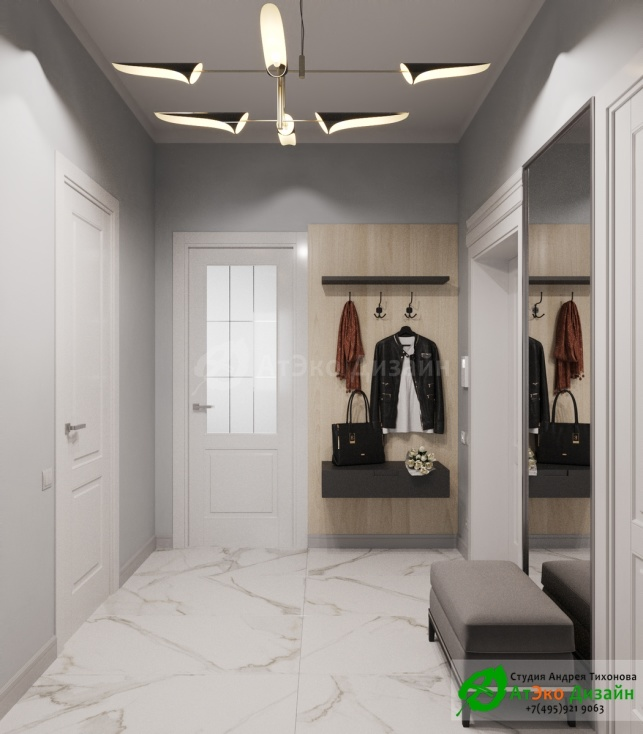 Сколково медовая дизайн холла