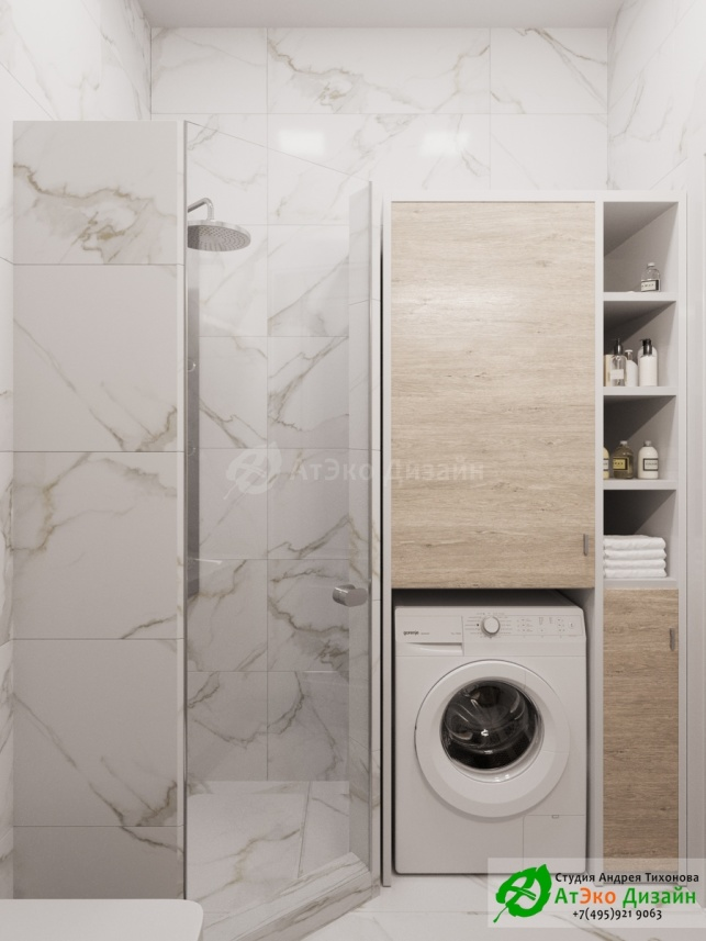 Сколково Медовая дизайн дешевой с местом под стиральную машину