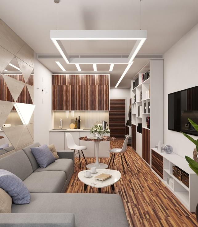 Отель М1 Сколково Одинцово дизайн-проект Апартаментов 2 вариант